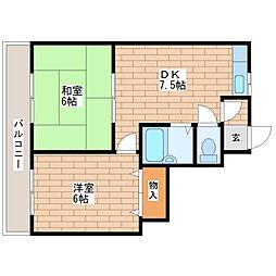マンションサンパール[603号室]の間取り
