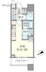 JR山手線 目黒駅 徒歩2分の賃貸マンション 6階ワンルームの間取り