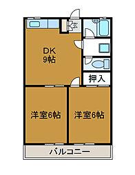 パークアベニュー[2階]の間取り