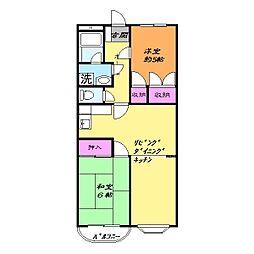 CITY69(メゾンさくら)[2階]の間取り