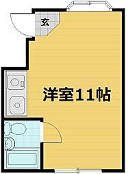 スクエア藤ノ森[311号室]の間取り