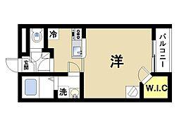 レオパレスLa VistaII[2階]の間取り