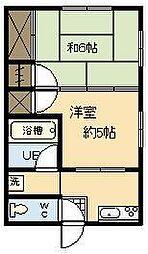 釘村アパート[301号室]の間取り
