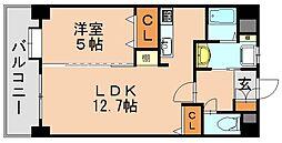 リレポルト博多[8階]の間取り