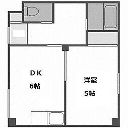 北海道札幌市白石区東札幌五条2丁目の賃貸マンションの間取り