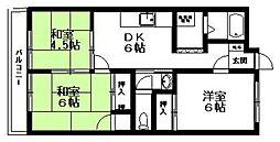 徳永ハイツ[401号室]の間取り