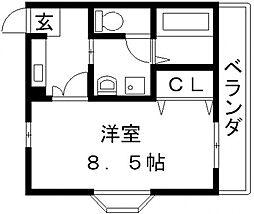 アデレード長田[110号室号室]の間取り