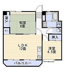 佐々木コーポ[3階]の間取り