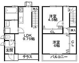 [一戸建] 滋賀県彦根市平田町 の賃貸【/】の間取り