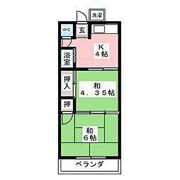 河原住宅[2階]の間取り