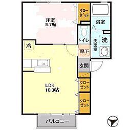 ソラーナ II[2階]の間取り