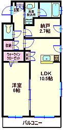 神奈川県横浜市神奈川区西大口の賃貸マンションの間取り