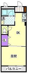 マンション第6松戸[5階]の間取り
