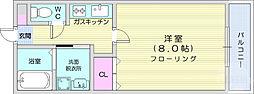 JR仙山線 北山駅 徒歩35分の賃貸アパート 2階1Kの間取り