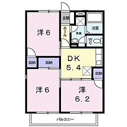 山口県下関市熊野町3丁目の賃貸アパートの間取り