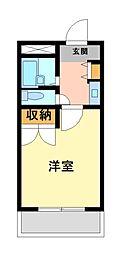 兵庫県姫路市飾磨区阿成の賃貸アパートの間取り