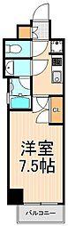 クレストコートTS吾妻橋[7階]の間取り