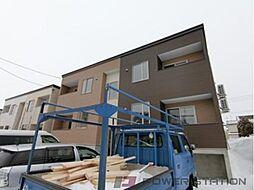 北海道千歳市信濃3丁目の賃貸アパートの外観