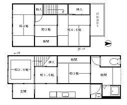 壬生森町貸家[1階]の間取り