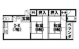 村井マンション[101号室]の間取り