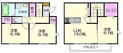 [テラスハウス] 福岡県糟屋郡志免町南里3丁目 の賃貸【/】の間取り