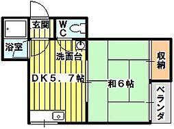 ルールマンション[506号室]の間取り
