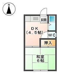 水谷荘[2階]の間取り