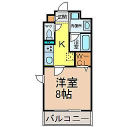愛知県名古屋市北区大杉2丁目の賃貸マンションの間取り