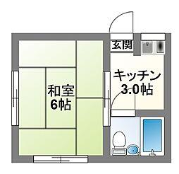 神領アパート[102号室]の間取り