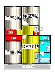 原マンション[1階]の間取り