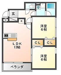 N3[2階]の間取り