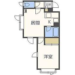 麻生ハイツ[1階]の間取り