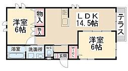 兵庫県川西市美園町3丁目の賃貸マンションの間取り