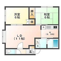 コートソアラ[3階]の間取り