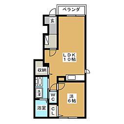 レジデンス・ベガ[1階]の間取り