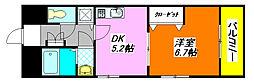 マジェスタ・八戸ノ里 108号室[1階]の間取り