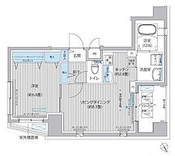 セ・レーノ下丸子 4階1LDKの間取り