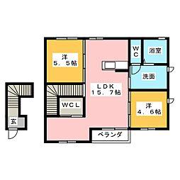 ウィルハイムa[1階]の間取り