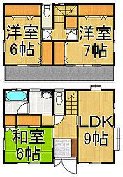 [一戸建] 埼玉県越谷市東越谷7丁目 の賃貸【/】の間取り