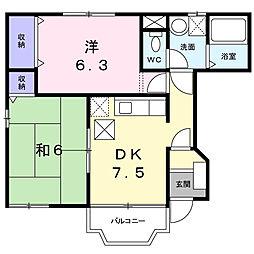 フロレスタA[1階]の間取り