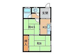 井口アパート[2階]の間取り