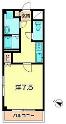 カネダマンション[3階]の間取り