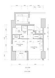 高砂新築マンション(管理物件)[1001号室]の間取り