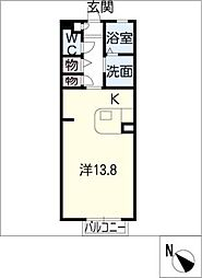 プレミール豊ヶ丘A棟[1階]の間取り