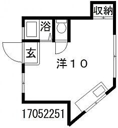 マンション奈美[3階]の間取り