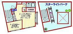 都営三田線 西巣鴨駅 徒歩7分の賃貸マンション 2階1LDKの間取り