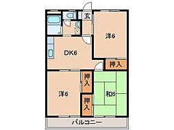 レジデンス粟[3階]の間取り