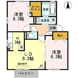 ドライ・カッツェンA棟[2階]の間取り