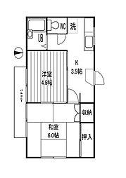 埼玉県さいたま市大宮区浅間町の賃貸アパートの間取り