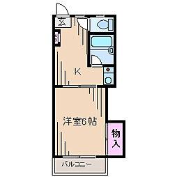 ドルフィンオオヤ[1階]の間取り